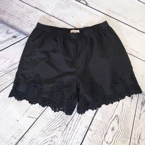 Ella Moss Black Embroidered Shorts